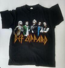 Def Leppard 2007 Tour Anvil T Shirt Medium M 100% Preshrunk Cotton Hair Metal