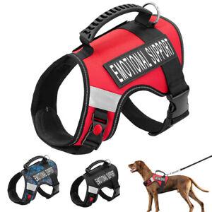 Reflective Dog Emotional Support Harness Mesh Padded ESA Service Vest Large Dogs