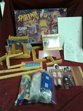 Rare box ToyBiz Spider-Man Daily Bugle Playset Spiderman Animated vtg gift comic