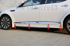8pcs Chrome Body Door Side Molding Trim Garnish Cover For 2011-15 Kia Optima K5