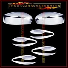 For NISSAN Altima 2013-2014 Chrome Covers Set Top Mirrors +4 Door BOWL PLATES