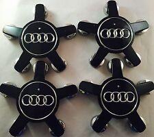 4X Black AUDI A4 A5 A6 A7 A8 Q5 R8 S4 S5 S6 S8 TT Wheel Center Caps 4F0601165N