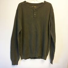 North River Outfitters Mens Rustic Olive Green Sweater XL Cotton New