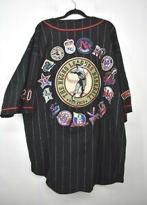 NLBM Mens Negro League Baseball Museum Short Sleeve Baseball Jersey Black 5XL