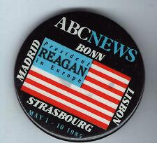 1985 Ronald REAGAN pin ABC NEWS Television State Visit to EUROPE May 4 - 10