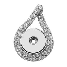 Hot Women Crystal Jewelry Necklace Pendant Fit 18mm Noosa Snap Button N168