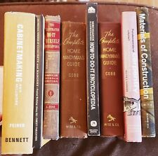☆Lot of 8 Books! Do-It-Yourself, Handyman, Construction, Carpentry, Woodworking!