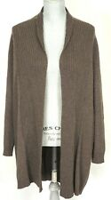 CYNTHIA ROWLEY Brown Long CASHMERE Cardigan Sweater - Small