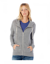 Alternative, Women's Full Zip Hoodie with roll cuffs, Grey, XXL