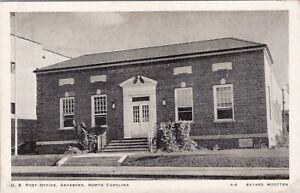 Vintage postcard, U.S. post office, Asheboro, North Carolina