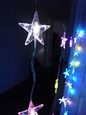 48 LED Seven Colour Change Star Curtain Lights