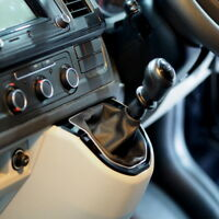 FOR VW T6 TRANSPORTER GEAR KNOB SURROUND MANUAL & DSG / PIANO BLACK / 235