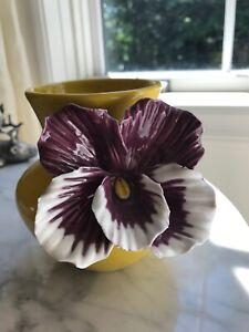 Anthropologie Pansy Vase Retired Home Decor Small Vase Flowers