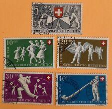 Switzerland 1951 Pro Patria Stamps Used