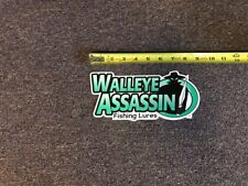 """Walleye Assassin Fly Fishing Lures Sticker/Decal Approx 9"""""""