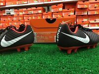 Nike Jr Legend 7 Club FG Soccer Cleats Black / Red / White Size 11.5c New In Box