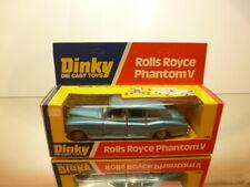 DINKY TOYS 124 ROLLS ROYCE PHANTOM V - BLUE METALLIC - EXCELLENT IN BOX