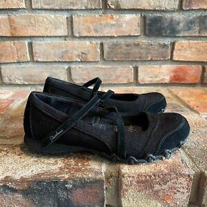 Skechers Womens Bikers Fiesta 49405 Round Toe Black Mary Jane Shoes Size 7 NEW