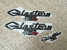 """Glastron decal with grand prix flags 13"""" x 4"""" (33 cm x 10 cm) + extra decal"""