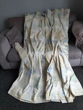 VINTAGE ST MICHAEL LINED CURTAINS AND TIE BACKS