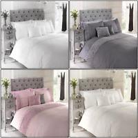 Limoges Rose Floral Chic Ruffle Duvet Cover/Quilt Cover Set Bedding
