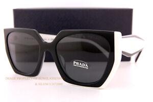 Brand New Prada Sunglasses PR 15WS 09Q/5S0 Black/Talc/Dark Grey For Women