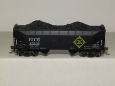 ATHEARN HO-SCALE ERIE 25265 OFFSET 2 BAY HOPPER W COAL KADEE'S & STEEL WHEELS