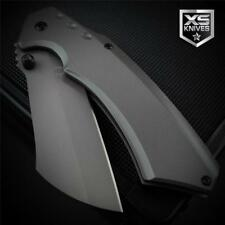 Pocket CLEAVER Tanto AIRCRAFT GRAY Tactical Spring Assisted Pocket Knife 8""