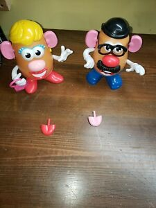 LOT of 2 Mr and Mrs Potato Head Toys with Accessories