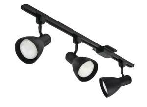 Lithonia Lighting Step Baffle 3-Light LED Track Lighting Kit 44.5 in. Black