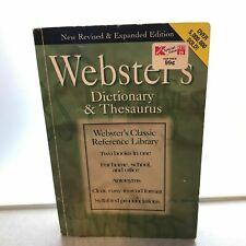 Webster's 2 in 1 Dictionary and Thesaurus (1997 Paperback)