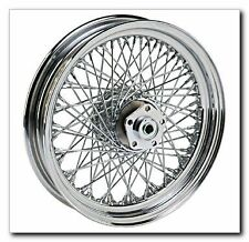 "80 SPOKE 16"" CHROME REAR WHEEL 16 X 3 HARLEY SOFTAIL FLSTF FAT BOY HERITAGE FLST"