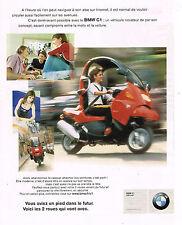 PUBLICITE ADVERTISING 114  2000   BMW  C1  125 cm3  moto