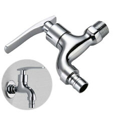 New Garden Washing Machine Water Tap Faucet Wall Mount Zinc Alloy Finish