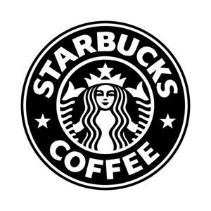 "4.5"" STARBUCKS Vinyl Decal Sticker Car Window Laptop Seattle Coffee Star Bucks"