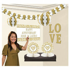 GRANDE COMPLETA GOLDEN Wedding Decorazione Kit POSTER caratteristica principale Garland & More