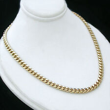 "New 4mm Rounded CURB Link 20"" 14k GOLD GL MENS Necklace 