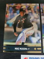 1992 Leaf Gold Mike Mussina Rookie Card #BC12. HOF. LOT OF 3 CARDS.