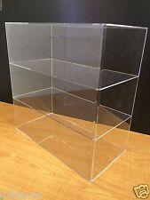 "Acrylic Counter top Display Case 16"" x 8"" x 16"" Show Case Cabinet Shelves"
