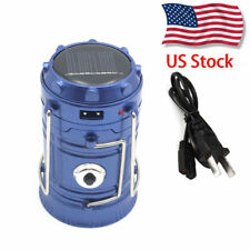 US STOCK Rechargeable Camping Hiking Tent Light Collapsible Solar Lantern Torch