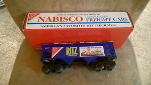Vintage K-Line Train Nabisco Ritz Crackers 1995 2 Bay Hopper Car 0 Scale New