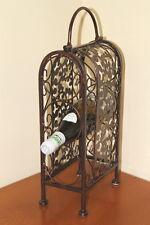 ON SALE!!  Antique Style Decorative Metal Framed Wine Rack for 3 Bottles