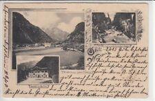 72188/50 - Gruß aus Weißbach mit Gasthof zum Auvogel Pinzgau 1905