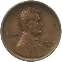 1921 S Lincoln Wheat Cent Very Fine Penny VF