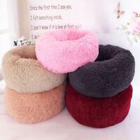 Soft Plush Round Pet Bed Dog Cat Warm Comfortable Sleeping Fluffy&Comfy Nest