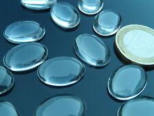 10 cabochon,, pezzi, ovali di cristallo, base piatta, de 13 x 18mm