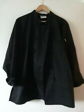 Uncommon Threads Chef Coat, 10 Knot Cotton, Black, Xl