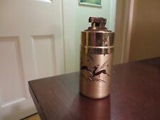 old vintage light metal brass lighter insert deer design Italy Christy lighter