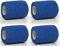 12 Rolls (4m x 70mm) Veterinary Human Cohesive Support Bandage First Aid support