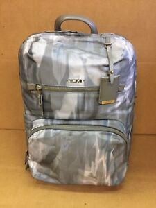 Tumi HALLE BACKPACK Luggage Laptop Blur Print Gray White 484758BLRP $295